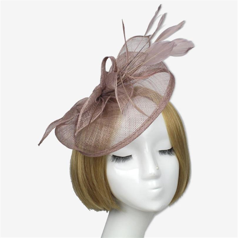 2015 New Arrival Flower Hair Fascinators Clip Hat Women Bride Wedding Fascinator  Hair Accessories Uk for Bridal Lady Headwere 99c97ec12