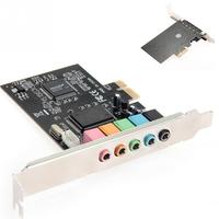 New Arrival PCI Express PCI-E  5.1-channel sound card CMI8738 Audio Sound Card w/ Low Profile Bracket Expansion Card Звуковая карта