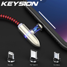 KEYSION Magnetic USB Type-C Cable for Samsung A50 S10 Xiaomi mi 9 redmi note 7 Micro Lightning iPhone Xr 6s 7P