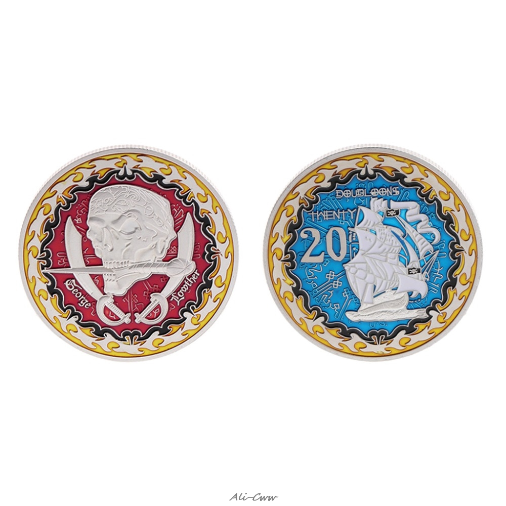 Commemorative Coin Famous Pirate George Storage Collection Arts Gifts Souvenir