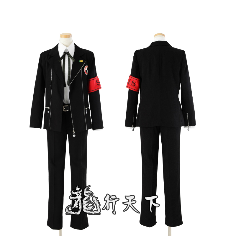 Shin Megami Tensei Persona 3 Minato Arisato Junpei Iori homme uniforme d'écolier Costume de Cosplay Halloween costume sur mesure