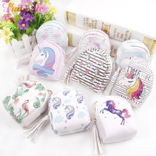PATIMATE Cartoon Cute Unicorn Bag Birthday Party Decor Purse Lovely  Supplies Little Coin Bags Key Pack