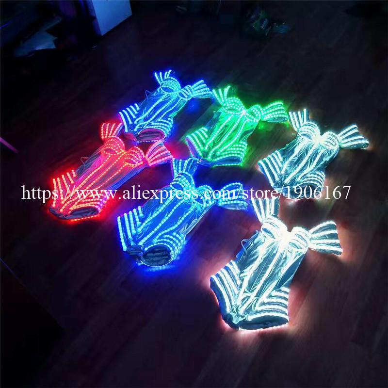 New Performance Prop Women Dance Accessories Girls DJ LED costumes Light Up Costume 05