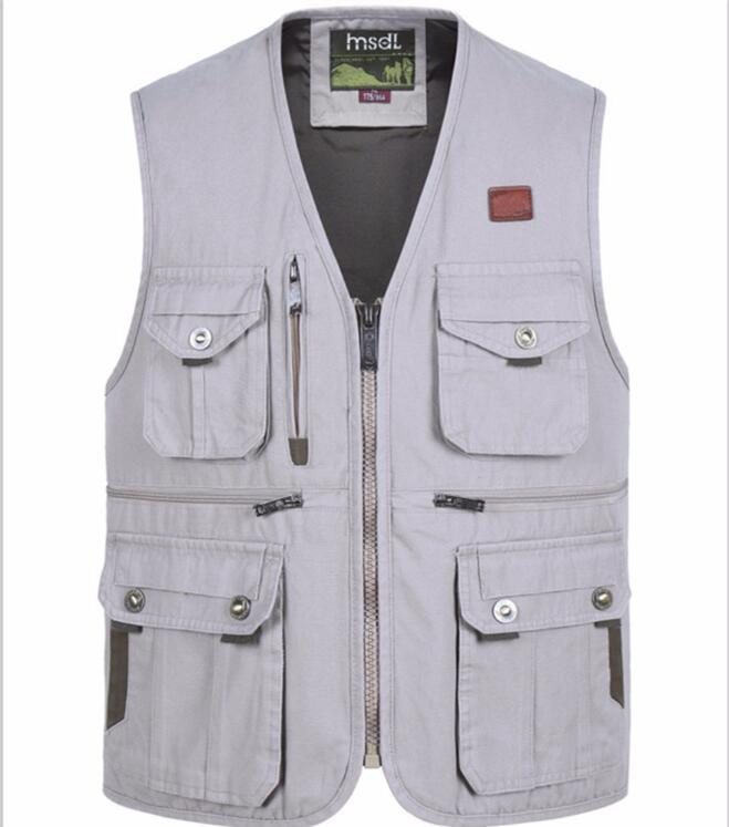 Beige NEW Fishing Hunters Photographers Multi Pocket Vest Desert All Sizes
