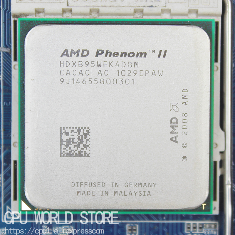 AMD Phenom II X4 B95 Quad-Core CPU Processor 3.0Ghz/ 6M /95W / 2000GHz Socket Am3 Am2+ 938 Pin Free Shipping