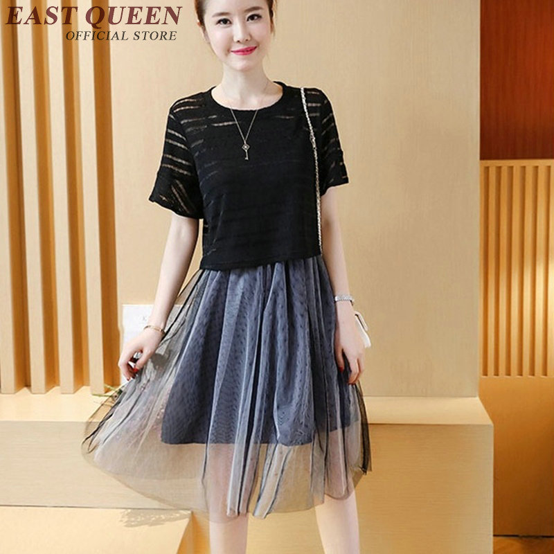 New Arrival beach dresses and tunic kawaii dress round neck two piece dress summer plus size clothes S-4XL NN0472 CQ 2