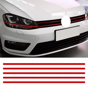 LEEPEE Car Strip Sticker Reflective Stickers Front Hood Grille Decals Car Styling Auto Decoration For VW Golf 6 7 Tiguan image
