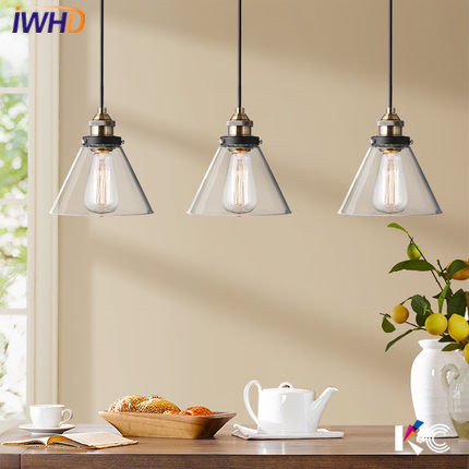 IWHD glass Hanglamp Retro Pendant Light Fixtures Fashion kitchen Handing Lamp Dining Room Lights Suspension Luminaire Lampara iwhd glass lampara led hanging lights modern creative restaurant pendant light fixtures dining room suspension luminaire lights