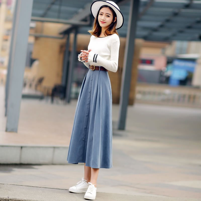 96bb76757a0 Girls Fashion Sweet Autumn Knit Sweater   Skirt Two Piese Sets Women 2019  New Spring Fashion Top   A-skirt Plus Size Casual
