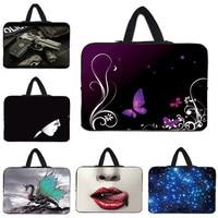Pink Flowers Notebook 17 Universal Neoprene Laptop Sleeve Bag With Hide Handle For 16 8 17