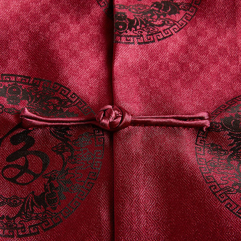 Women Vintage Tangzhuang Suits Jackets Female Mandarin Collar Tunic Blazers Red Chinese Character Pattern Jacquard Weave Blazer Multan