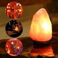 Brilham Mão Carved Natural do himalaia Cristal De Sal Do Himalaia Lâmpada Com Genuína Madeira de Nim Base, lâmpada E Controle Dimmer