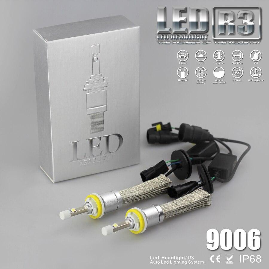 YUMSEEN Super Bright 9600lm 9006 HB4 Blanc 6000 K Voiture LED Phare Conversion Kit 4800lm styling Ampoule de voiture dans Phare Ampoules de Automobiles et Motos