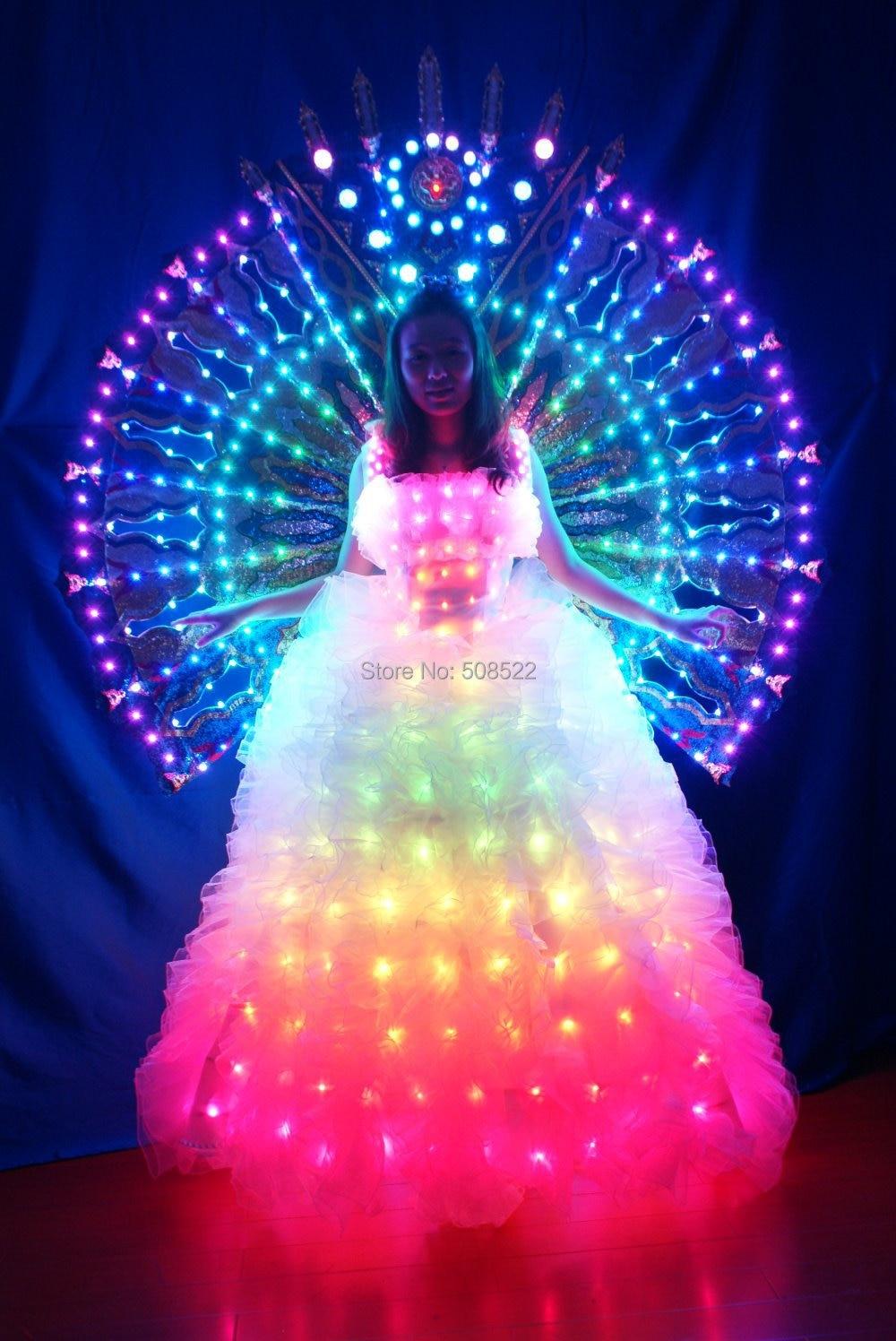 Licht zurück Rack LED Fluoreszenz unter der Bühne Prop LED Kleidung - Partyartikel und Dekoration - Foto 1