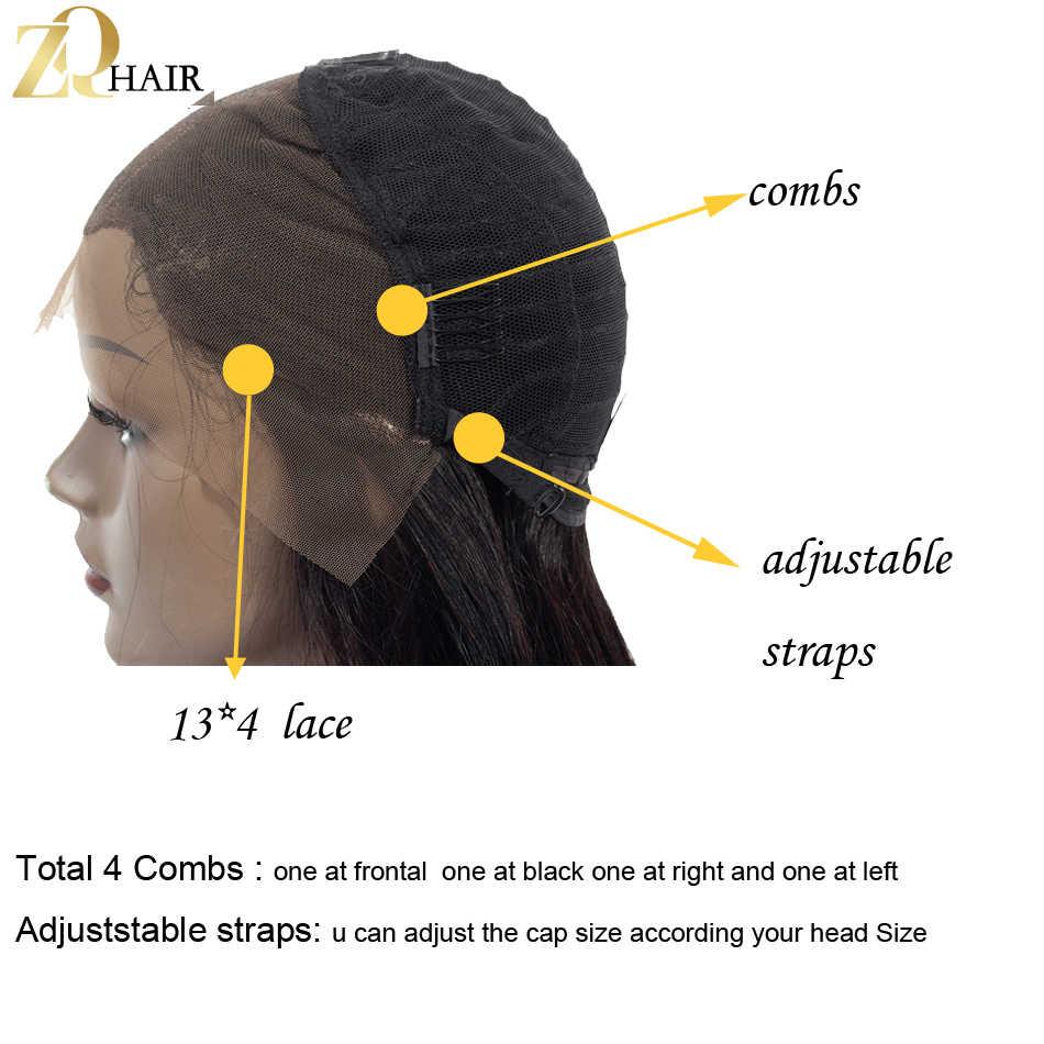 ZQ 1B/синий 99J 27 красный розовый Ombre синтетические волосы на кружеве парик «пучок» Искусственные парики перуанский прямые волосы 13x4 коротки...