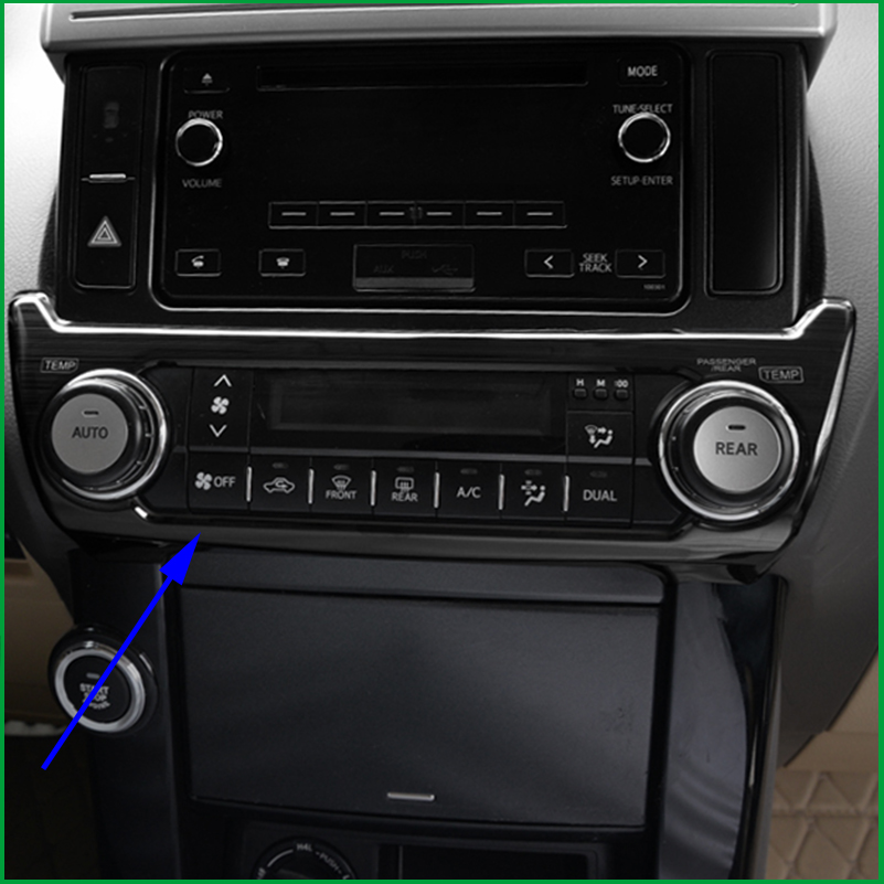 Car styling FOR TOYOTA land cruiser prado 2010 2017 Interior AC AIR Condtioner SWITCH CONTROL PANEL