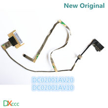 New pbl60 dc02001av20 lvds cabo de asus x53u k53u k53tk lcd lvds cable