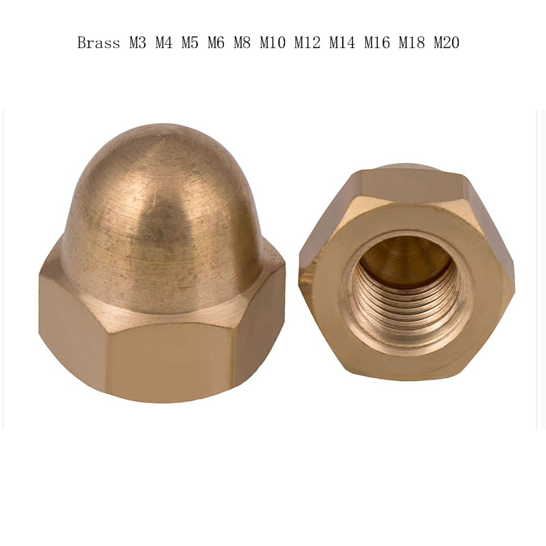 4 mm M4 Ottone CUPOLA Dadi Esagonale Metrica Esagonale a cupola Dadi DIN 1587
