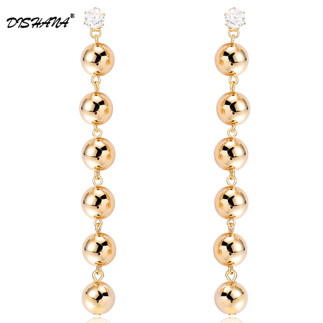 e28d93195 Statement Star Long Earring For Women Vintage Six gold colors balls Drop  Earrings For Women Jewelry Mother Gift E0720