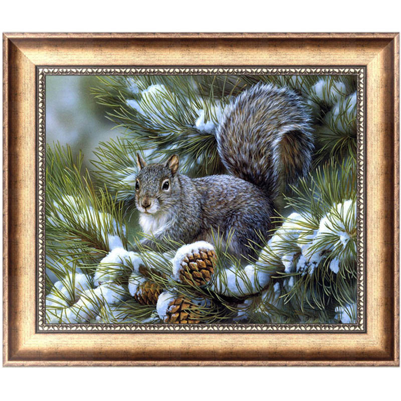 DIY 5D Diamond Painting Squirrel Mosaic Needlework Cross Stitch Home Decor Broderie Diam ...