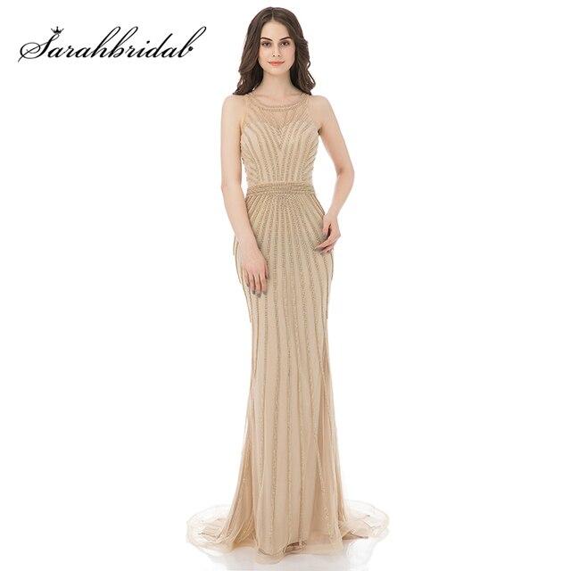 Foto Real De Noche vestidos formales brillante De graduación De 2018  vestidos De tul vestidos De 39146b4e6701