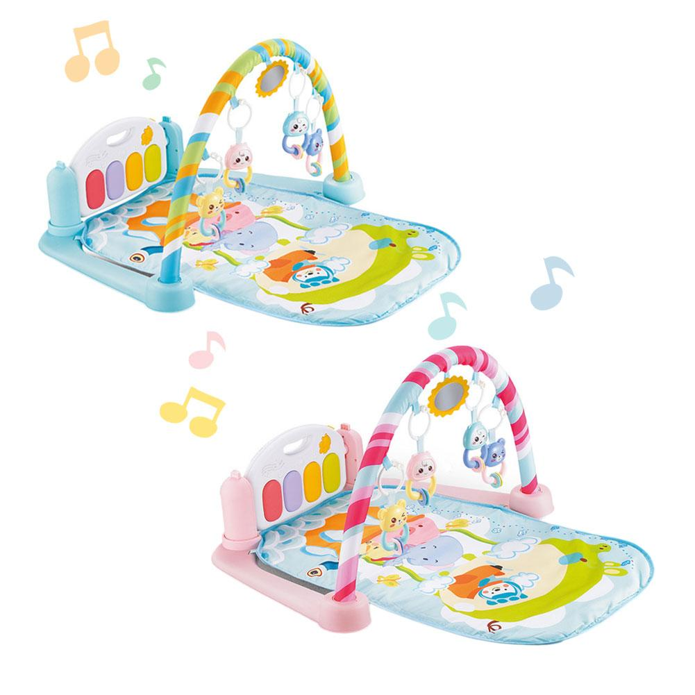 Baby Gym Frame Fitness Play Mat Game Pad Kick Play Piano With Pedals Children Music Crawling Playing Carpet Early Education Toy baby gym frame fitness play mat game pad kick play piano with pedals children music game playing gym toy for 0 1 year baby