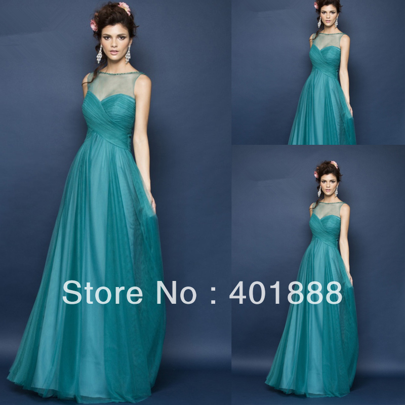 Images of Long Turquoise Dress - Reikian