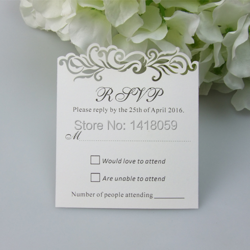 100pcs Personalized Rsvp Cards Wishing Well With Blank Envelopes