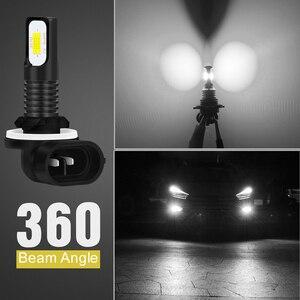 Image 5 - كاتور 2 قطعة H27 881 سوبر Led لمبة السيارات H27W/2 H27W2 السيارات الضباب ضوء 1200Lm 12 فولت LED لمبات القيادة تشغيل ضوء لكيا