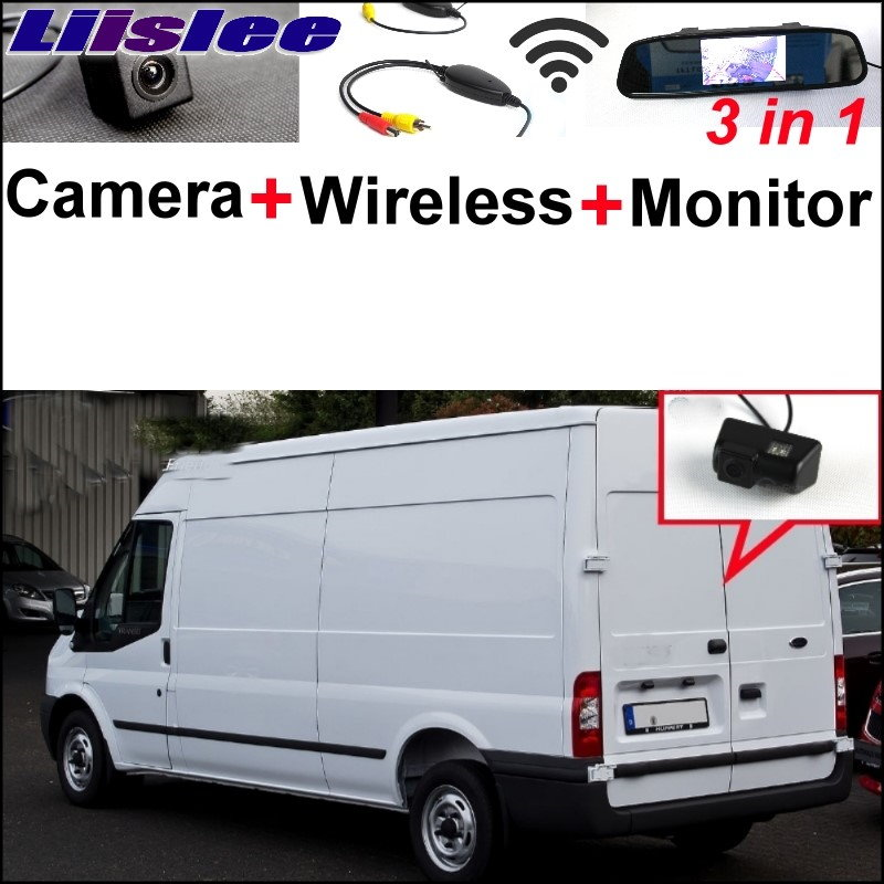 Liislee For Ford Transit 2000~2017 Wireless Receiver + 3 in1 Special Rear View Camera + Mirror Monitor Easy DIY Parking System liislee 3 in1 special rear view camera wireless receiver mirror monitor diy parking system for ford c max s max 2010 2014