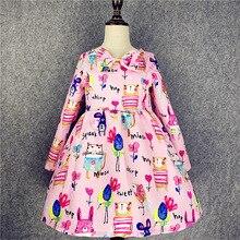 children's dress girls long-sleeved printing clothing