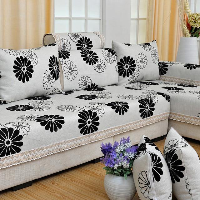 Christmas Floral L Shaped Corner Sofa Covers Set Home