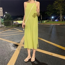 Sexy Womens Dress Summer Sling Maxi Long Dresses Loose Sundress Female Sleeveless