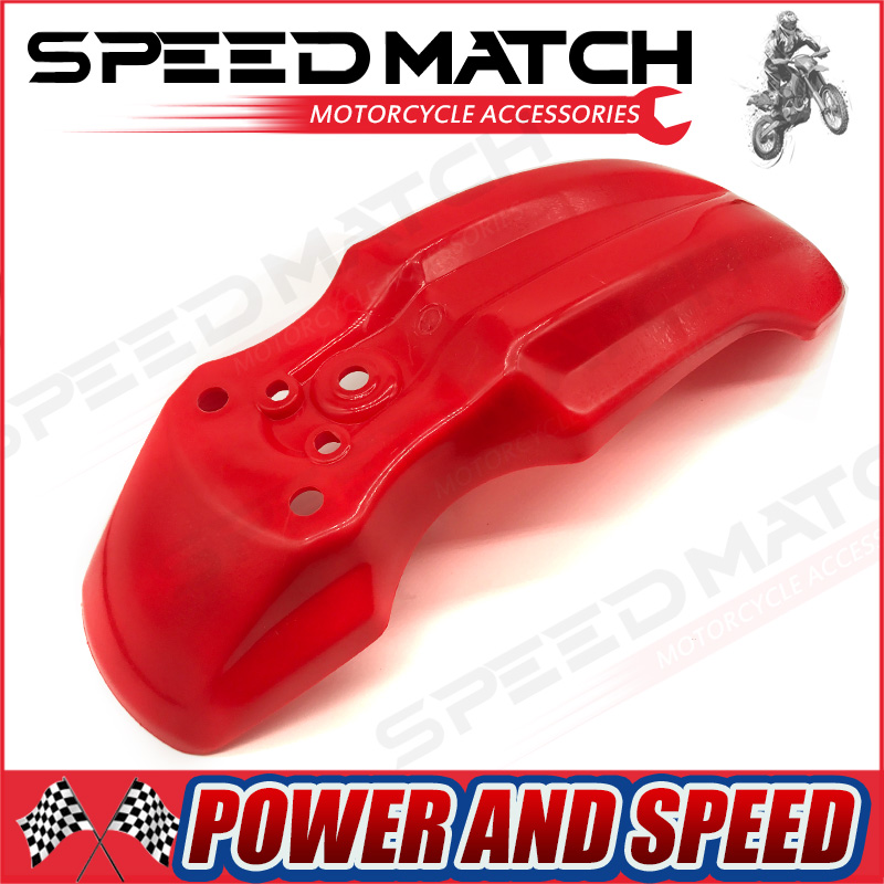 Motorcycle 1pcs CRF50 CRF50 Plastic The Front Fender Dirt Bike Off-Road Red