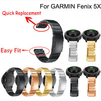 Stainless Steel Bracelet Quick Replacement Band 26MM Strap Wristband For Garmin Fenix 5X Watch H0TY0