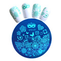 1 unids Moda DIY Máscara Sexy Styels Nail Art Plantilla Stamping Nail Art Imagen Placas De Acero 5.5 cm Plantilla Manicura # STZA23