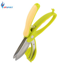 Upspirit Multifunctional Kitchen Scissors Double Layers Shears For Salad Fruit Vegetable Choppers Lettuce Knife Kitchen Tool
