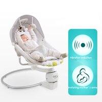 Детское кресло качалка детские электрическая колыбель кресло качалка шезлонг успокоить волшебное устройство сна в колыбель для новорожде