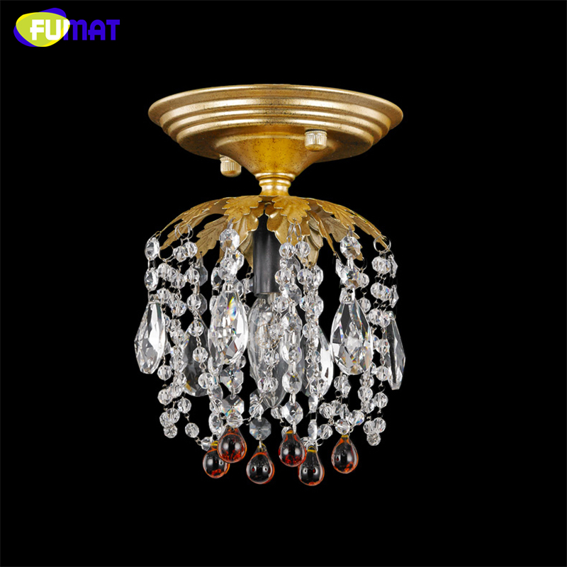 FUMAT K9 Crystal Ceiling Lamp Retro Creative Art Deco Ceiling Lightings Living Room Dining Room Entrance Hallway Crystal Lights fumat stained glass table lamp high quality goddess lamp art collect creative home docor table lamp living room light fixtures