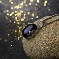 925 de prata Bohemian real natural namorada presente garnet de pedras preciosas azul corindo pingente