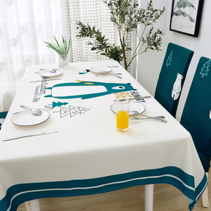Image 4 - Parkshin Modern Cartoon Bear Tablecloth Home Kitchen Rectangle Decorative Table Cloths Party Banquet Dining Table Cover 4 Size