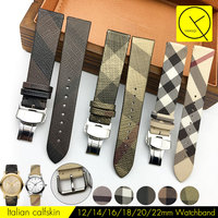 12 14 16 18 20 22mm Watch Band Strap For Burberry Watch Lady Woman Strap Grid