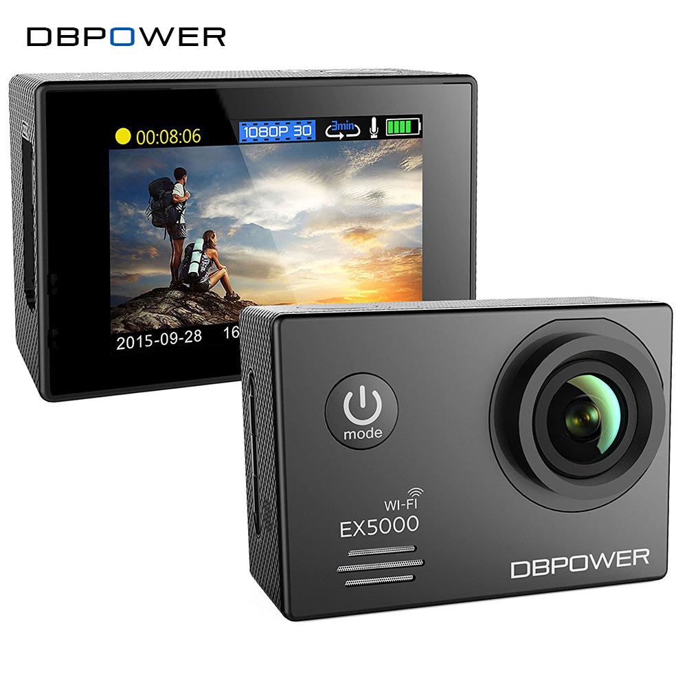 Prix pour DBPOWER EX5000 Wifi Camera Action Sport Cam 2.0 pouce 1080 p 1920*1080/30fps Étanche 30 m avec 2 Batteries Supplémentaires Aller SJ5000 pro