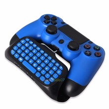 Bluetooth Wireless Keyboard Chatpad for Gamepad Joystick PS4 Slim Controller 0321