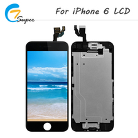 ET-Super 100PCS LCD Display For iphone 6 LCD Touch Screen Digitizer Home button+Front camera For iphone 6 lcd quality good