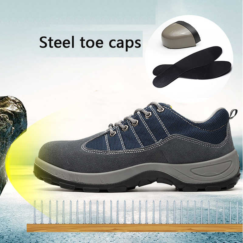 09f161271338e Safety shoes Air-permeable smash - proof puncture - proof protective  Footwear shoes indestructible shoes