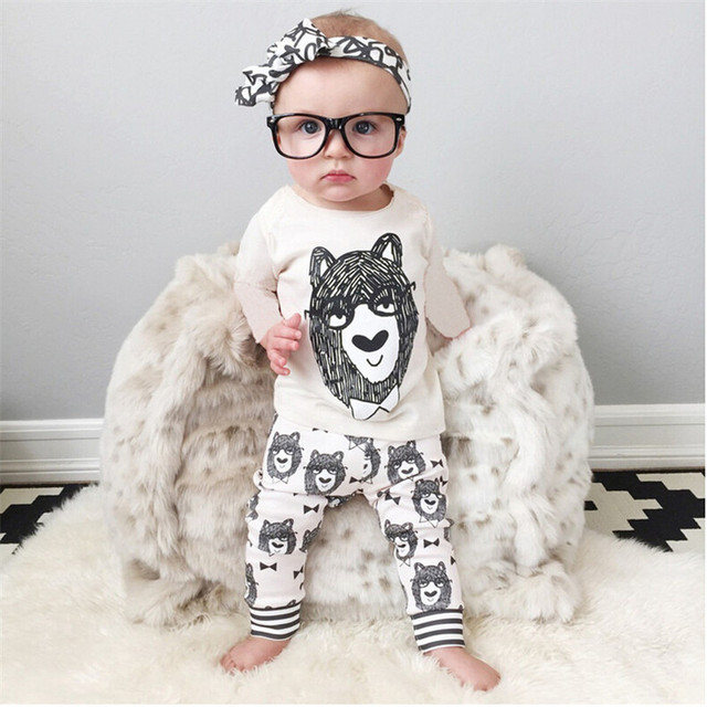 1dac183f8 Hot Sale Fashion 2pcs Baby Boy Clothes Set Cartoon Monster Cotton T ...