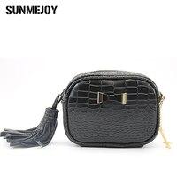 SUNMEJOY Luxury Women S Shoulder Bag Crocodile Pattern For Women Crossbody Tassel Handbags Artificial Leather Lady