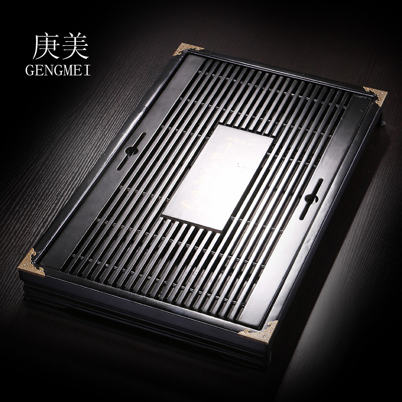 G beauty tea tea tray, tea tea Kung Fu Ke special offer wood saucer wood drawer factory wholesale factory direct ceramic tea sets italics ru ru reducing opening film kung fu tea gift boxes