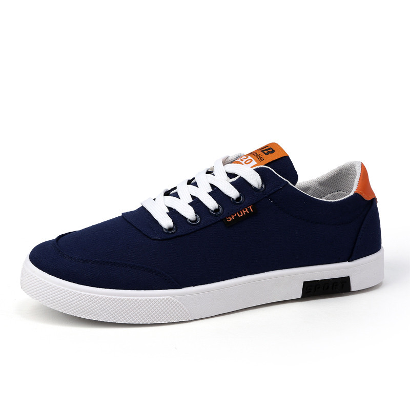 Hot Sale Classic Student Canvas Shoes Boys Trend Small White Shoes Breathable College Wind Casual Mens Shoes ...